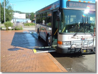 The TAWC fixed-route buses offer an easily accessible entry for all passengers needing greater access. These buses are low floor buses with kneeling capability.